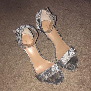 Velvet Heeled Sandals